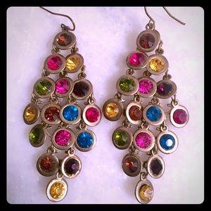 Statement multiple color earrings